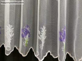 Készre vartt függöny 300cm szeles 160cm magas zsakard levandula lila színű