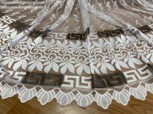 Készre vartt függöny 300cm szeles 250cm magas Görögmintas  fehéralap fekete színű