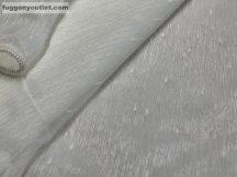 Készre vartt függöny 300cm szeles 180cm magas hopehelyes Lenesvoile kremszínű