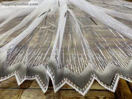 Függöny készre vart palcikas feher szürke színű 400 cm szeles 180 cm magas
