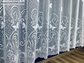 Függöny készre vart pillangos feher színű 400 cm szeles 180 cm magas