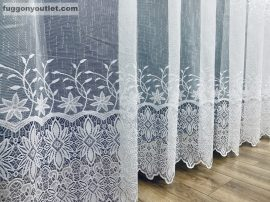 Függöny készre vart csillag  fehér  színű 500 cm szeles 180 cm magas