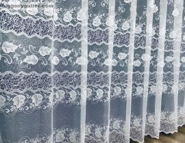 Kesz függöny szölöleveles fehér színű 500 cm szeles 250 cm magas
