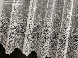 Készre vartt függöny sorbaleveles fehér színű  300cm szeles 160cm magas