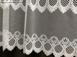 Vitrazs függöny folyóméter fehér színű 120 cm magas
