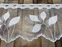 Vitrázs függöny folyóméter krem színű 30 cm magas