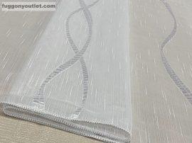 Függöny folyómeter (5043-05) lenes voal féheralapon féher színű 280 cm magas