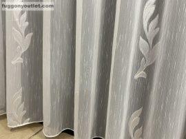 függöny készre vart (5187-24) Fehér alapon fehér 300cm szeles 260cm magas