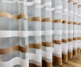 Függöny folyómeter (5206) lenes voal féheralapon barna színű 280 cm magas
