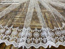 Kesz függöny Karikadomb Fehér színű 200 cm szeles 260cm magas