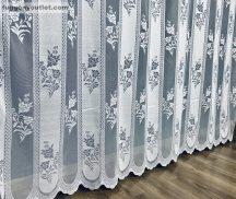 Készre vartt függöny Lefele vastag csikos fehér színű 500cm szeles 250cm magas