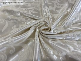 Folyóméter Sötétítő függöny 280 cm Magas Selyem krem  színű