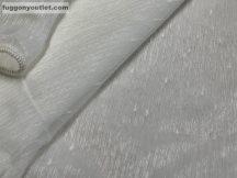 Készre vartt függöny 300cm szeles 180cm magas hopehelyes Lenesvoile krem színű