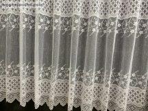 Függöny készre vart rombusz fehér  színű 500 cm szeles 180 cm magas