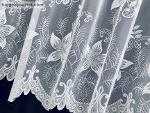 Készre vartt függöny csillaglevel  fehér színű  300cm szeles 155 cm magas