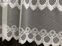 Vitrazs függöny folyóméter fehér színű 100 cm magas