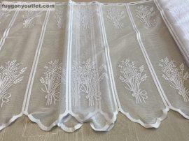 Vitrázsfüggöny levandulas fehér színű 70 cm magas