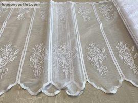 Vitrázs függöny méterben zsakard levendulás fehér színű 70 cm magas