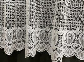 Vitrazs függöny folyóméter vastag fehér színű 120 cm magas