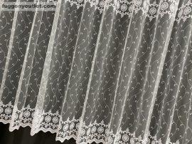 Kesz függöny Karikadomb Fehér színű 300 cm szeles 180 cm magas