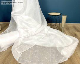 Függöny folyómeter hopehelyes fehèr színű 280 cm magas