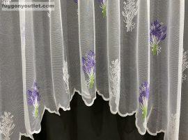 Készre vartt függöny zsakard levandula panaromas fehér lila színű 300cm szeles 155cm magas