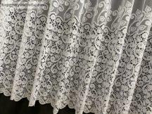 Függöny készre vart sürüindas fehér színű 400 cm szeles 200 cm magas