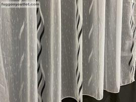 Függöny készre vart celen fehéralapon fekete színű 400 cm szeles 160 cm magas