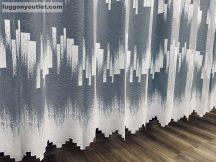 Készre vartt függöny zsakard parketta  fehér színű 200cm széles 155 cm magas