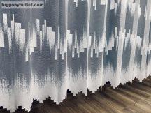 Készre vartt függöny zsakard parketta mintás fehér színű 200cm szeles 250cm magas
