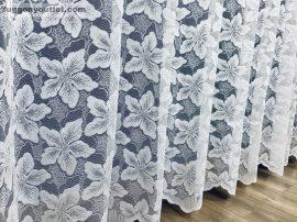 Készre vart függöny platánfa fehér színű  300cm szeles 160cm magas