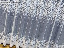 Függöny készre vart vegtelenlevel féher színű 400 cm szeles 250 cm magas