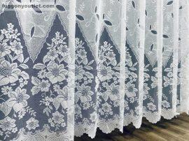 Függöny készre vart regcsatos féher színű 400 cm szeles 250 cm magas