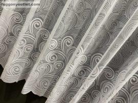 Készre vartt függöny arnyékolt inda 200cm széles 155 cm magas zsakard fehér színű