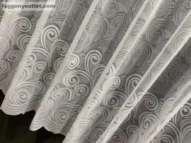 Függöny készre vart arnyekinda feher színű 400 cm szeles 180 cm magas