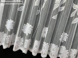 Függöny készre vart zsakar nagymargeretta fehér színű 400 cm szeles 200 cm magas