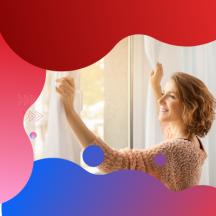 Kesz függöny (csikos) fehér Barna színű 500 cm szeles 155 cm magas