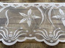 Vitrázs függöny folyóméter pillango fehér színű 40 cm magas