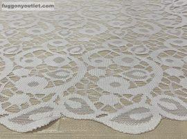 Vitrázsfüggöny indaleveles fehér színű 60 cm magas