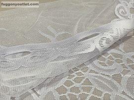 Vitrázsfüggöny földi fehér színű 70 cm magas
