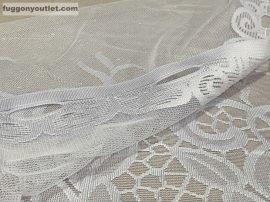 Vitrázs függöny meterben földi fehér színű 70 cm magas