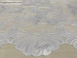 Vitrázsfüggöny csatos fehér színű 55 cm magas