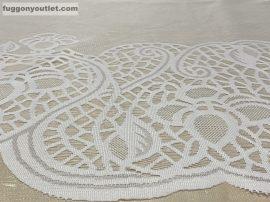 Vitrázsfüggöny méterben zsakard vastagbordur fehér színű 60 cm magas
