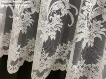Készre vart függöny tömegvirág fehér színű 300 cm szeles 180 cm magas