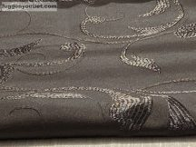 kész függöny sötétitő indaslevel ( 2 darab =140 cm szeles 180 cm magas ) selyem  csoki barna színű