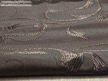 Kész  sötétítő függöny indáslevél  selyem  csoki barna színű ( 2 darab =140 cm szeles 180 cm magas )