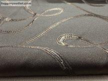 kész függöny sötétitő indas selyem  csoki barna színű ( 2 darab =140 cm szeles 180 cm magas )