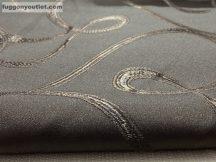 Kész sötétítő függöny indás selyem  csoki barna színű ( 2 darab =140 cm szeles 180 cm magas )