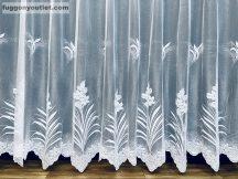 Készre vart függöny patakvirag fehér színű  300cm szeles 150 cm magas