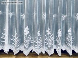 Készre vart függöny patakvirag fehér színű  300cm szeles 155cm magas